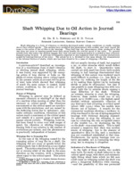 Shaft Whipping Action Due to Oil Action in Journal Bearings – Dyrobes